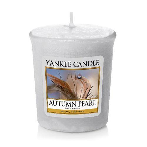Yankee Candle Votivní svíčka Yankee Candle - Autumn Pearl, šedá barva, vosk