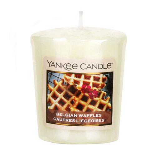 Yankee Candle Votivní svíčka Yankee Candle - Belgian Waffles, žlutá barva, vosk
