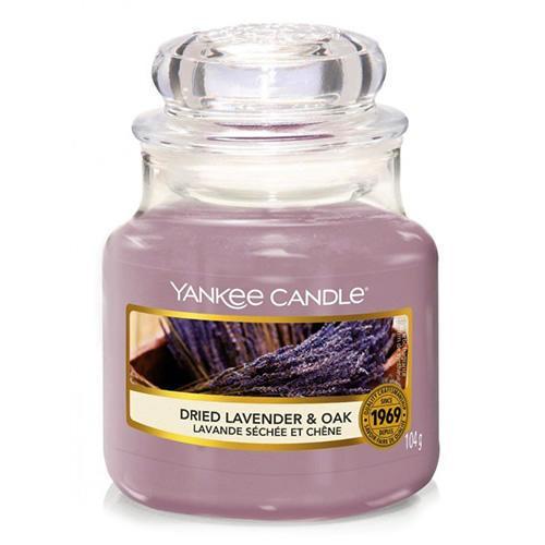 Yankee Candle Svíčka Yankee Candle 104g - Dried Lavender & Oak, fialová barva, sklo, vosk