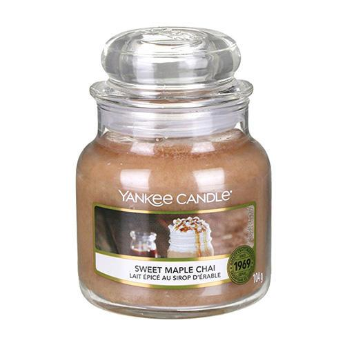 Yankee Candle Svíčka Yankee Candle 104g - Sweet Maple Chai, béžová barva, hnědá barva, sklo, vosk