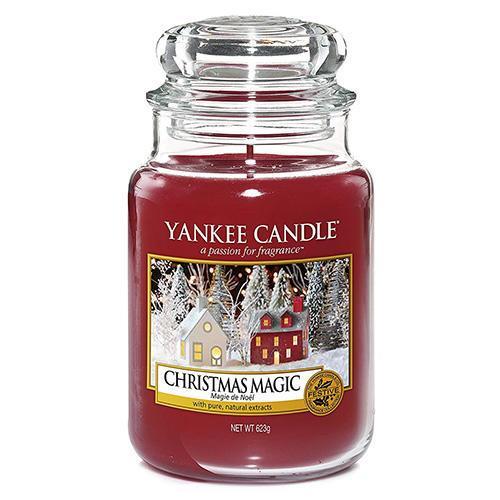 Yankee Candle Svíčka Yankee Candle 623g - Christmas Magic, červená barva, sklo, vosk