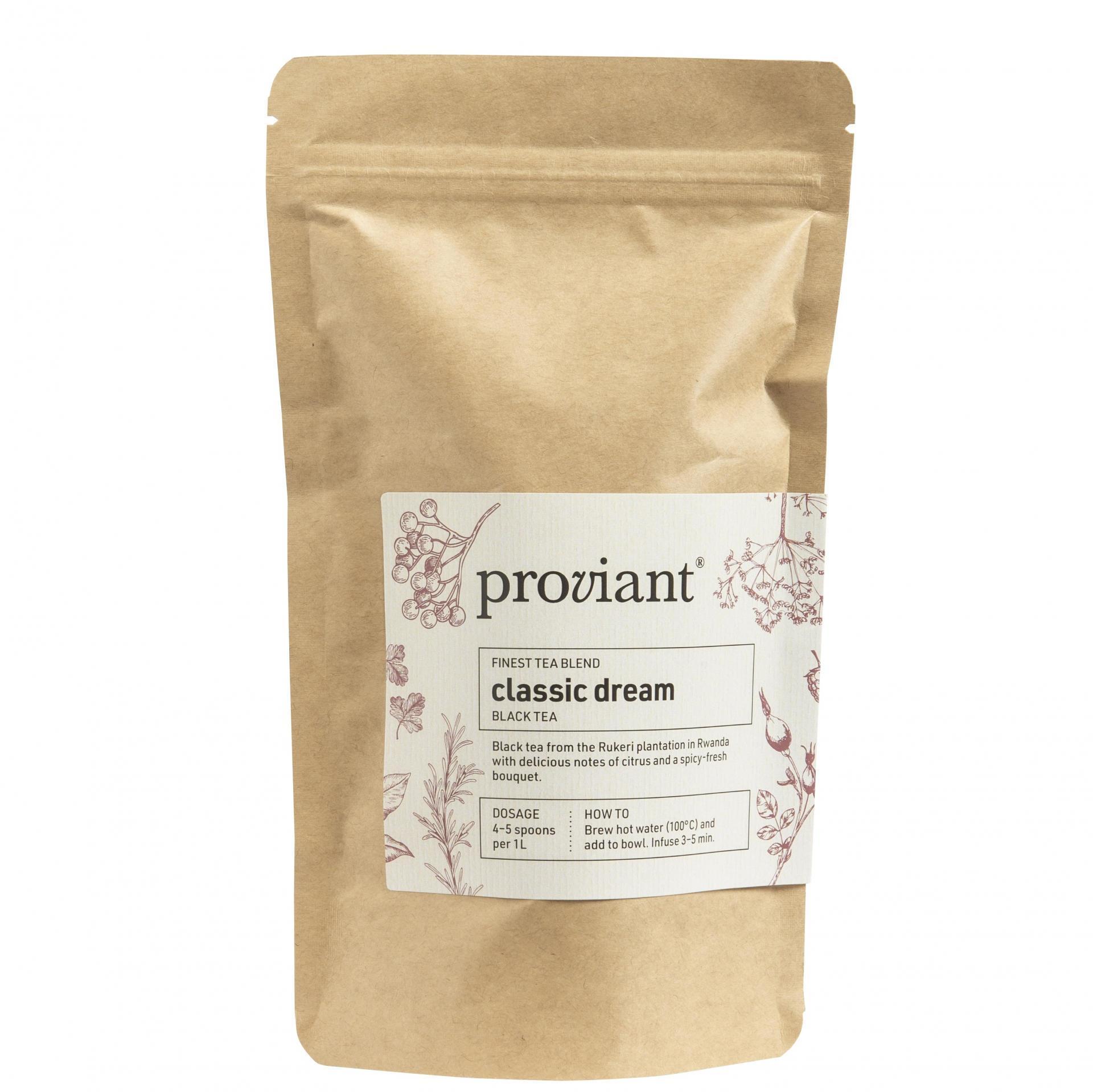 Proviant Černý čaj Classic Dream 75 g, přírodní barva, papír