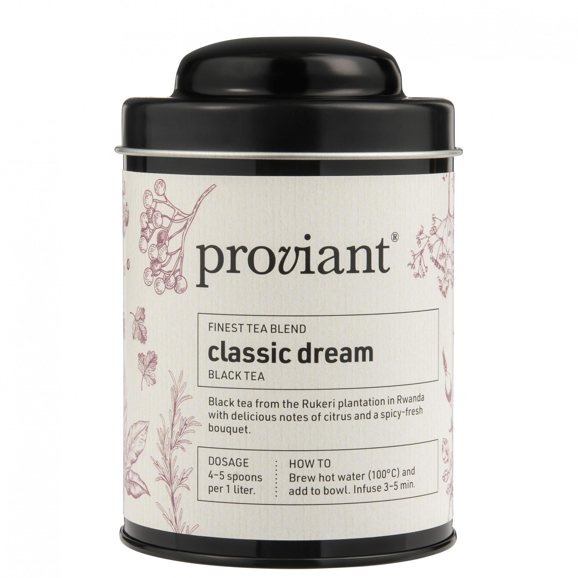 Proviant Černý čaj v dóze Classic Dream 100 g, černá barva, kov