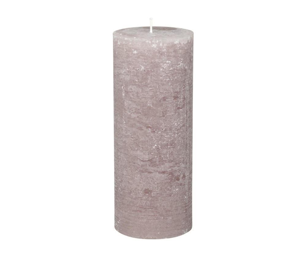 Chic Antique Kulatá svíčka Macon Rustic Taupe 25cm, šedá barva, hnědá barva, vosk