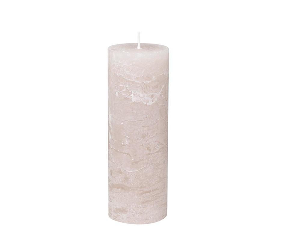 Chic Antique Kulatá svíčka Macon Rustic Dusty Rose 25cm, růžová barva, vosk
