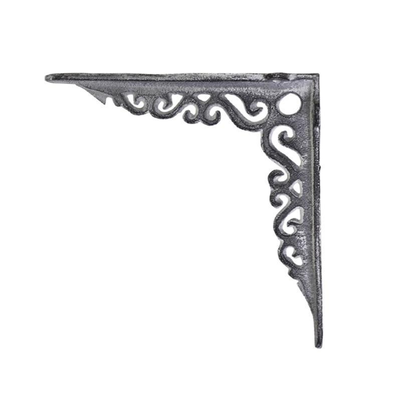 Chic Antique Kovová konzole Antique Grey 18cm, šedá barva, kov