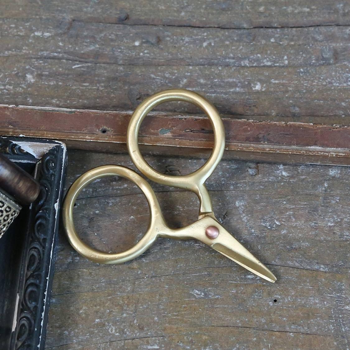 Chic Antique Kovové nůžky Gold Scissors, zlatá barva, kov