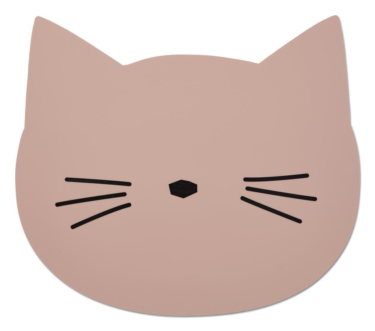 LIEWOOD Dětské prostírání Cat Rose, růžová barva, plast