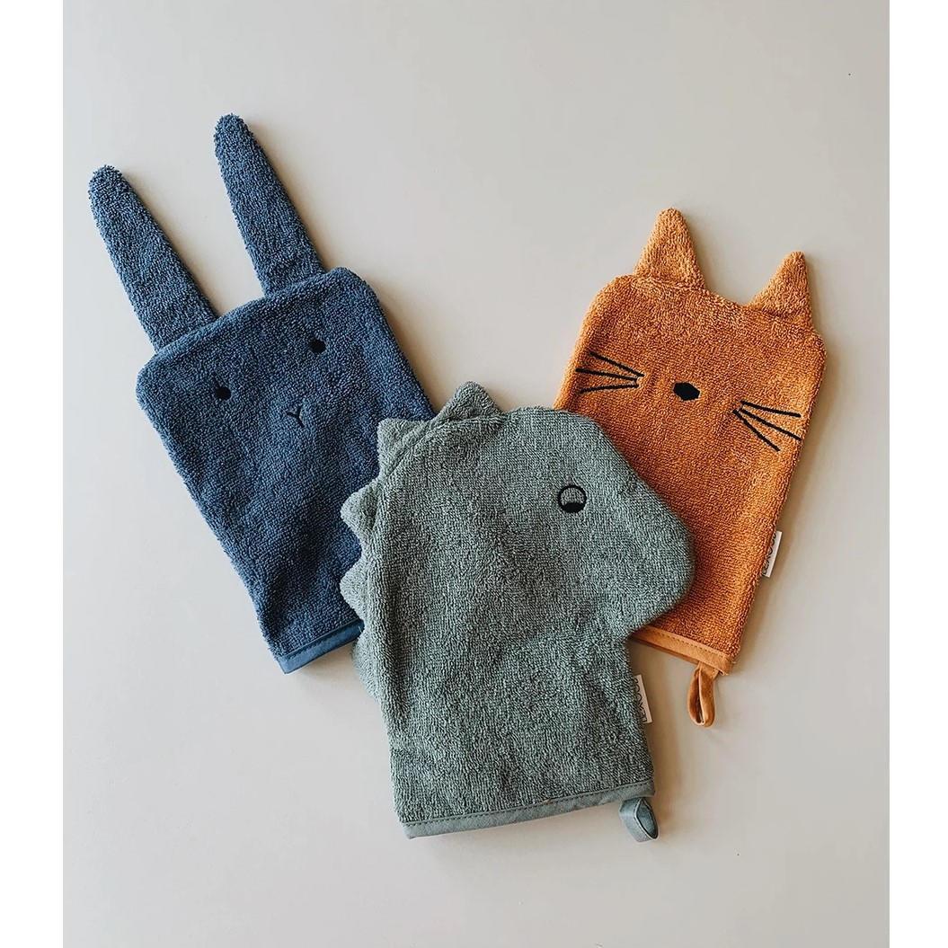 LIEWOOD Žínky z organické bavlny Dino, Cat & Rabbit, multi barva, textil