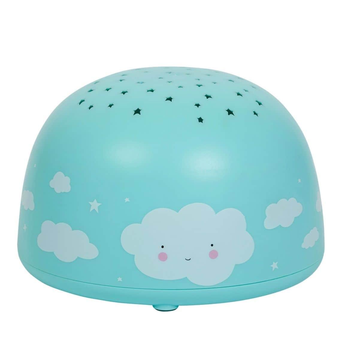 A Little Lovely Company Dětská LED lampička s projektorem noční oblohy Cloud, modrá barva, plast