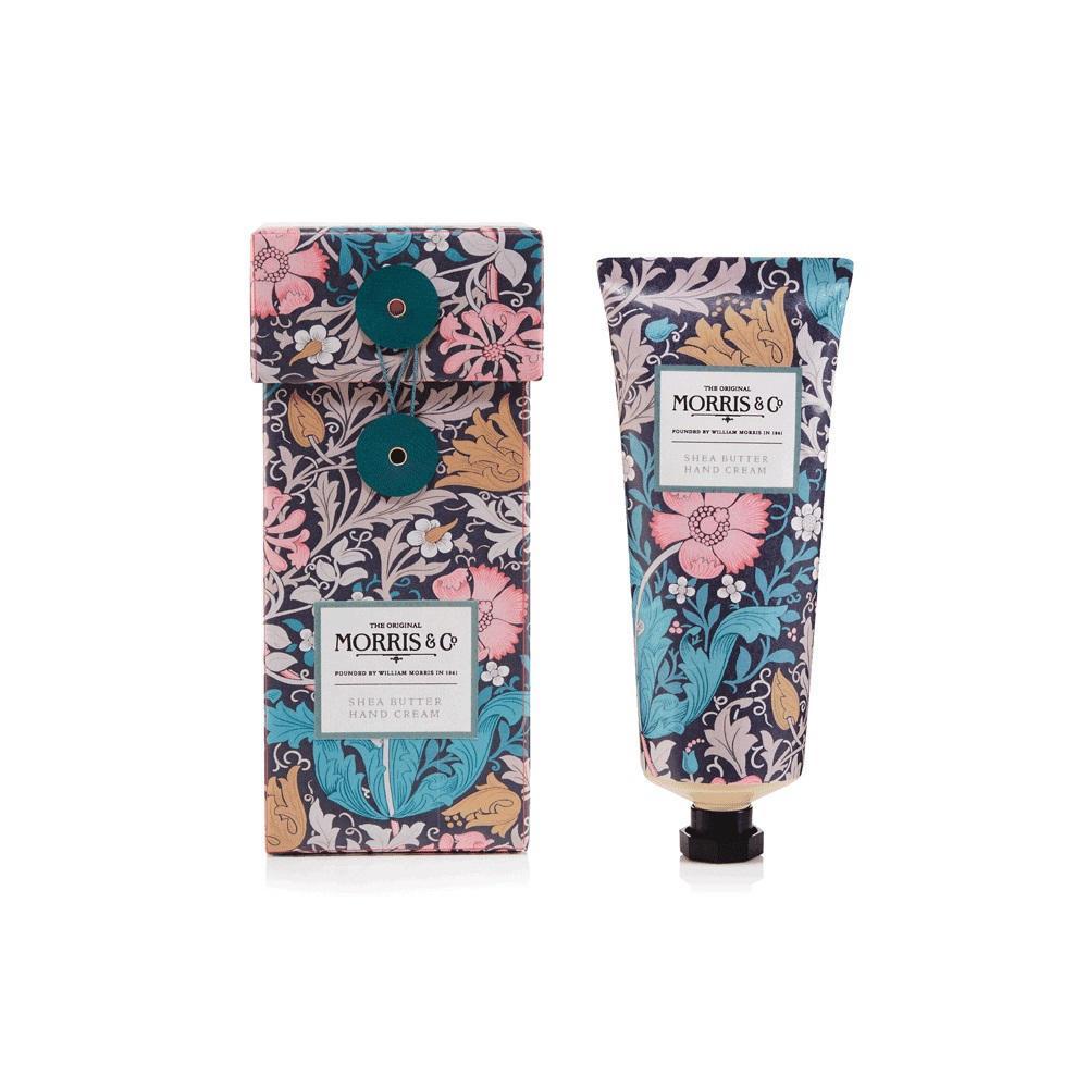 MORRIS & Co. Krém na ruce Pink Clay & Honeysuckle 100ml, růžová barva, modrá barva, plast
