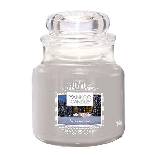 Yankee Candle Svíčka Yankee Candle 104g - Candlelit Cabin, šedá barva, sklo