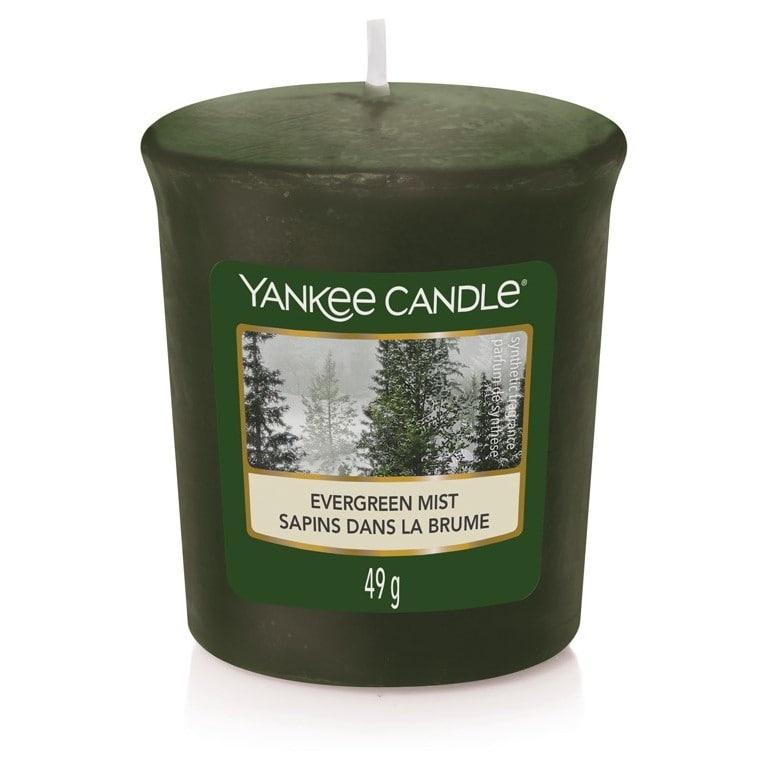 Yankee Candle Votivní svíčka Yankee Candle - Evergreen Mist, zelená barva, vosk