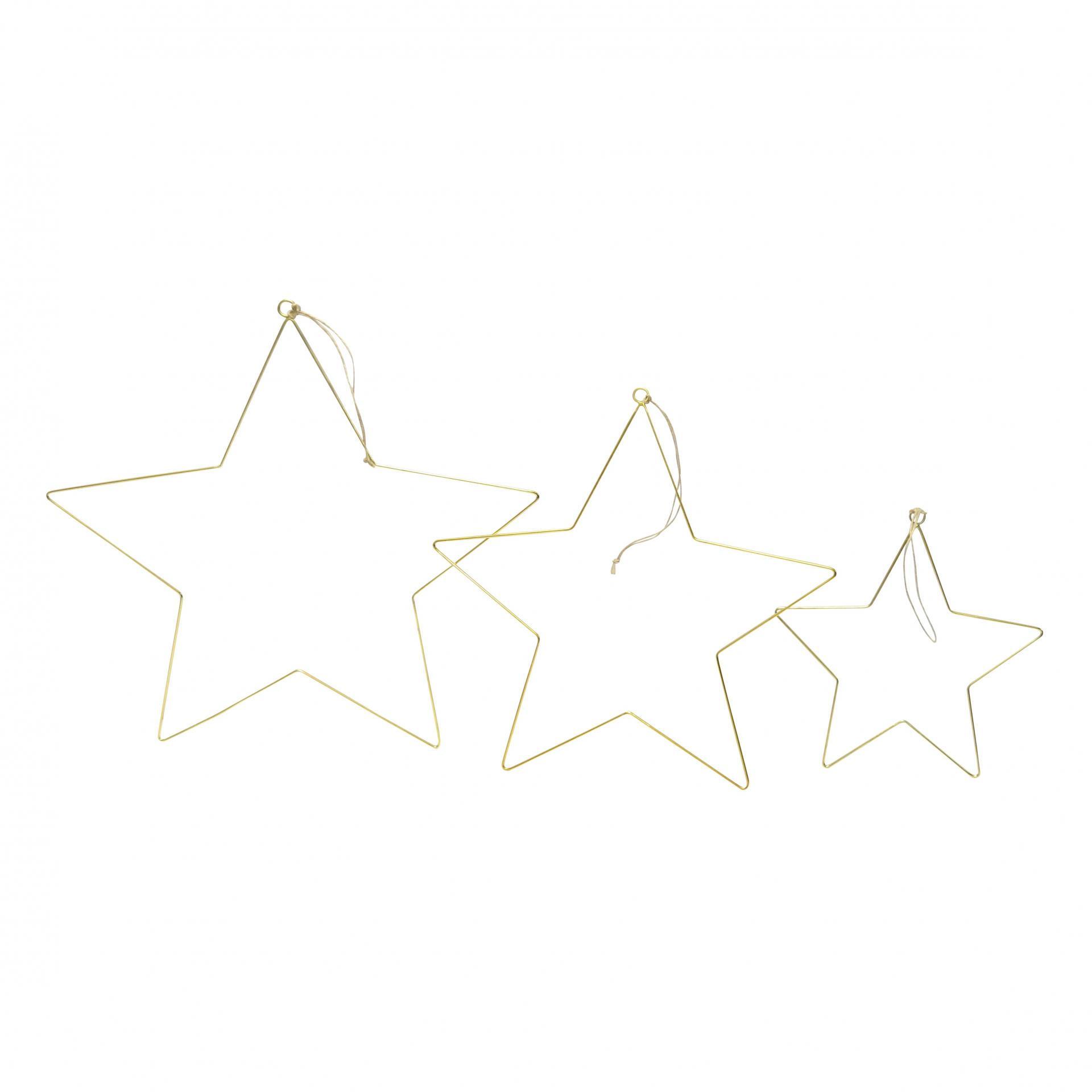 Krasilnikoff Závěsná hvězda Brass Malá (S), zlatá barva, kov