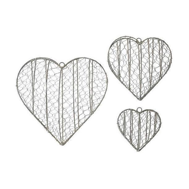 Krasilnikoff Závěsné otevírací srdce na dekorace Velké (L), šedá barva, zinek