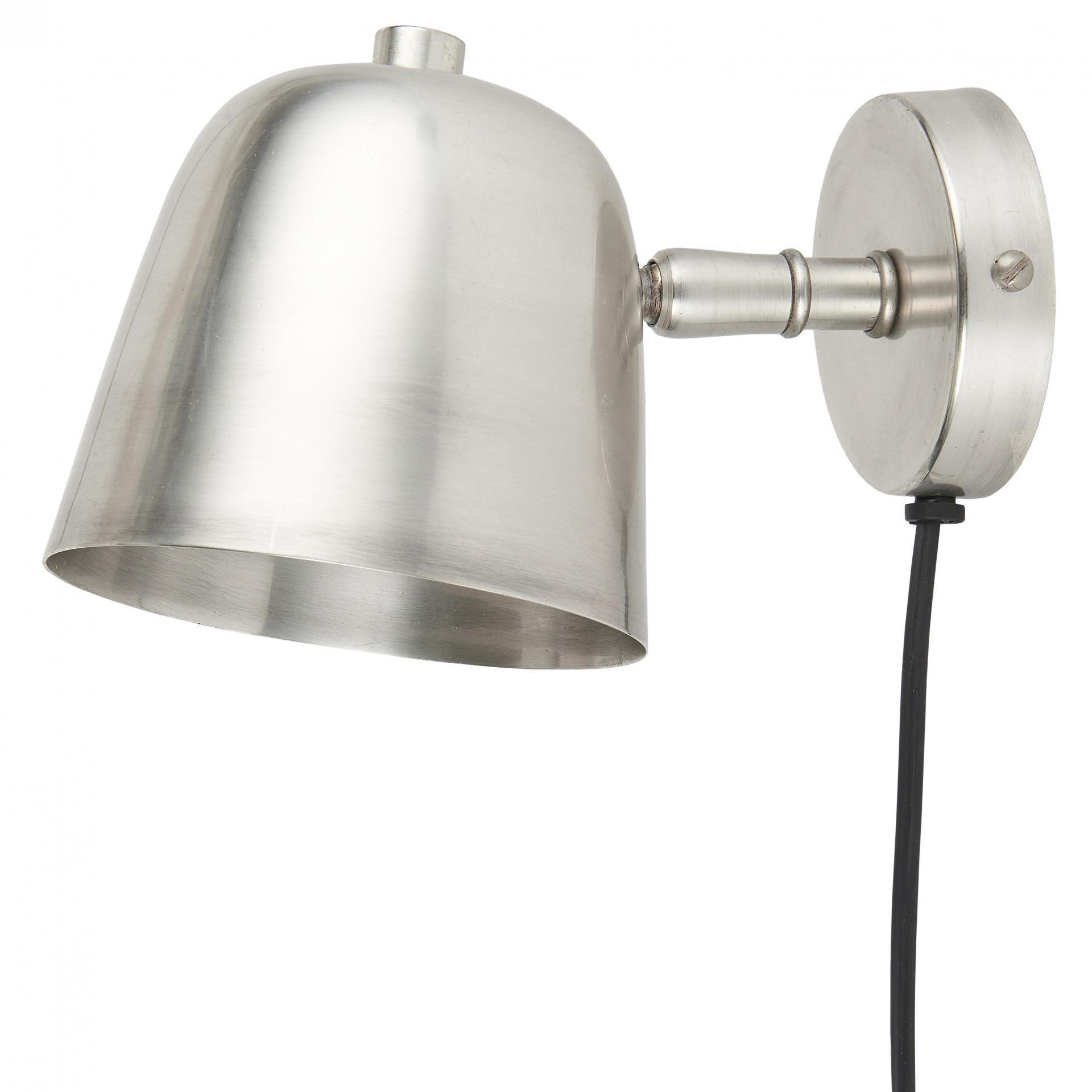 IB LAURSEN Nástěnná lampa Antique silver Round, stříbrná barva, kov