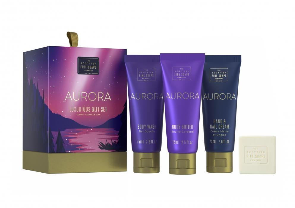SCOTTISH FINE SOAPS Dárkový set kosmetiky Aurora, fialová barva, modrá barva