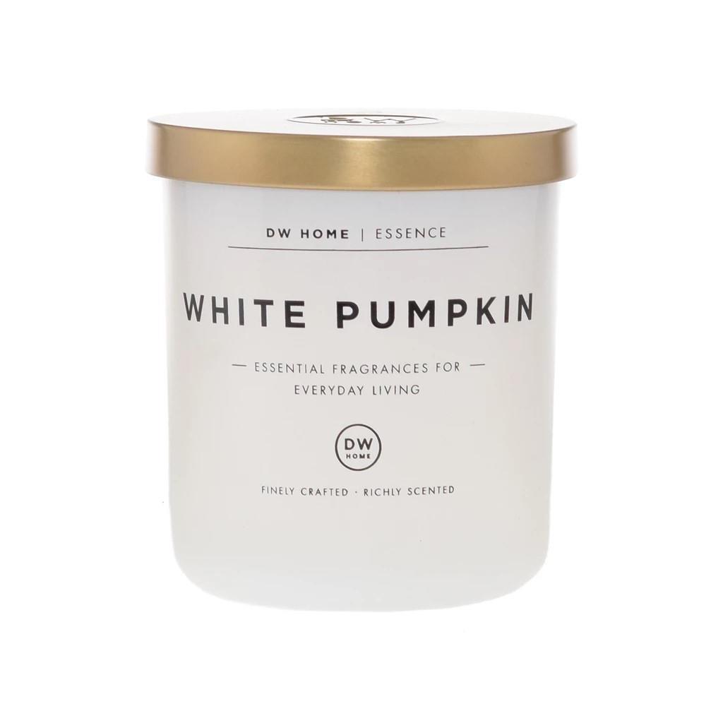 dw HOME Vonná svíčka White Pumpkin - 255g, bílá barva, zlatá barva, sklo, kov