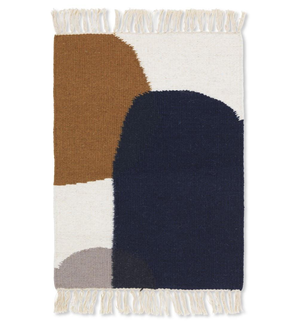 ferm LIVING Vlněný koberec Kelim Mat Merge 50 x 70 cm, multi barva, textil