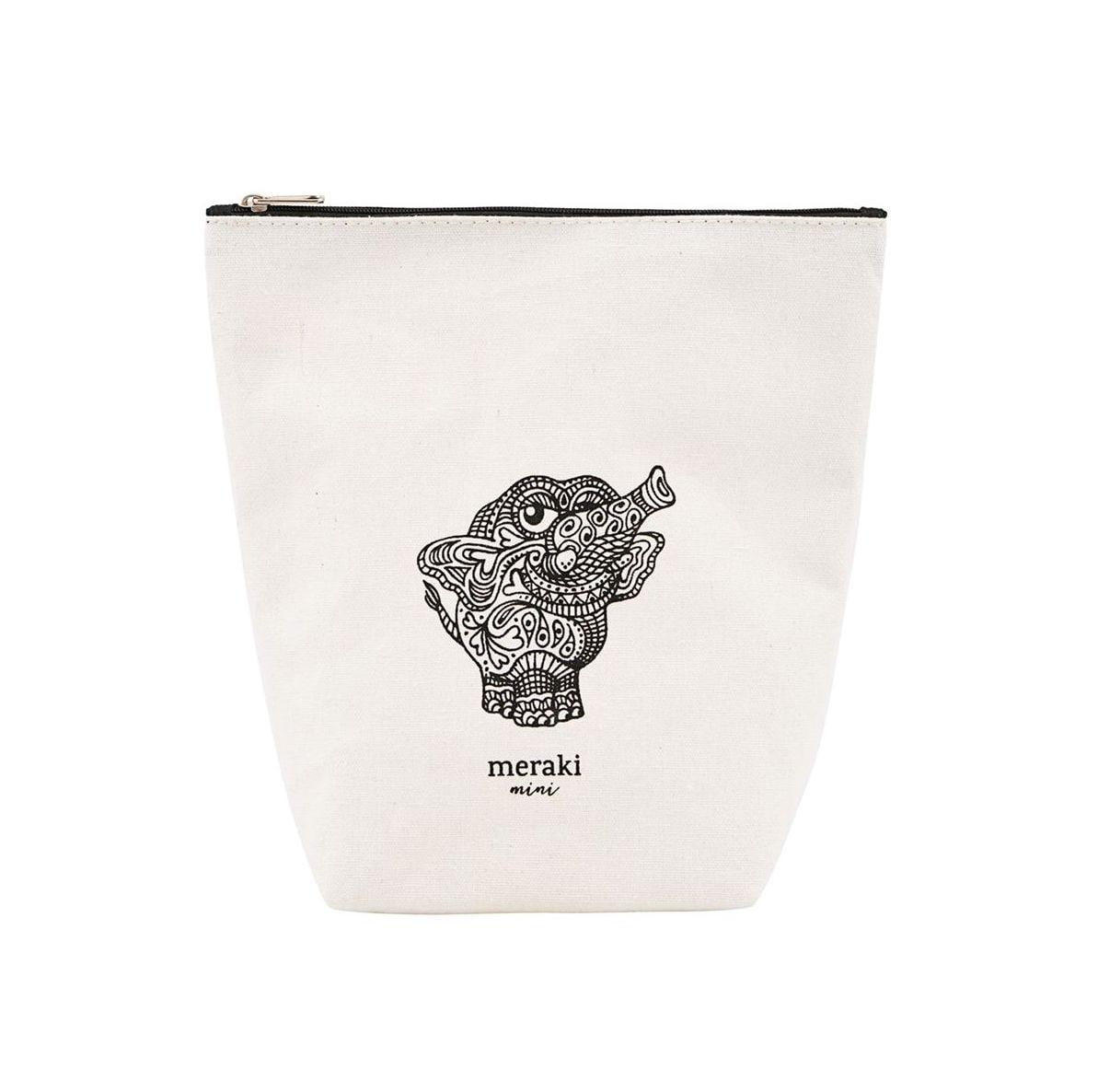 meraki Kosmetická taštička Doddy, černá barva, bílá barva, textil
