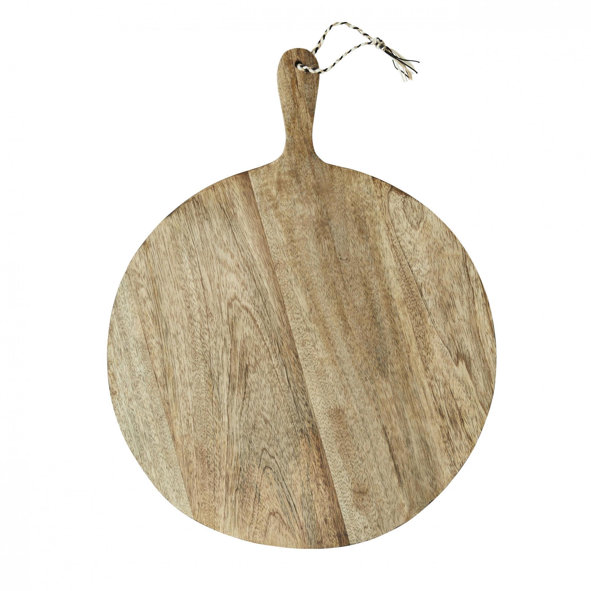 MADAM STOLTZ Kulaté krájecí prkénko Mango, přírodní barva, dřevo
