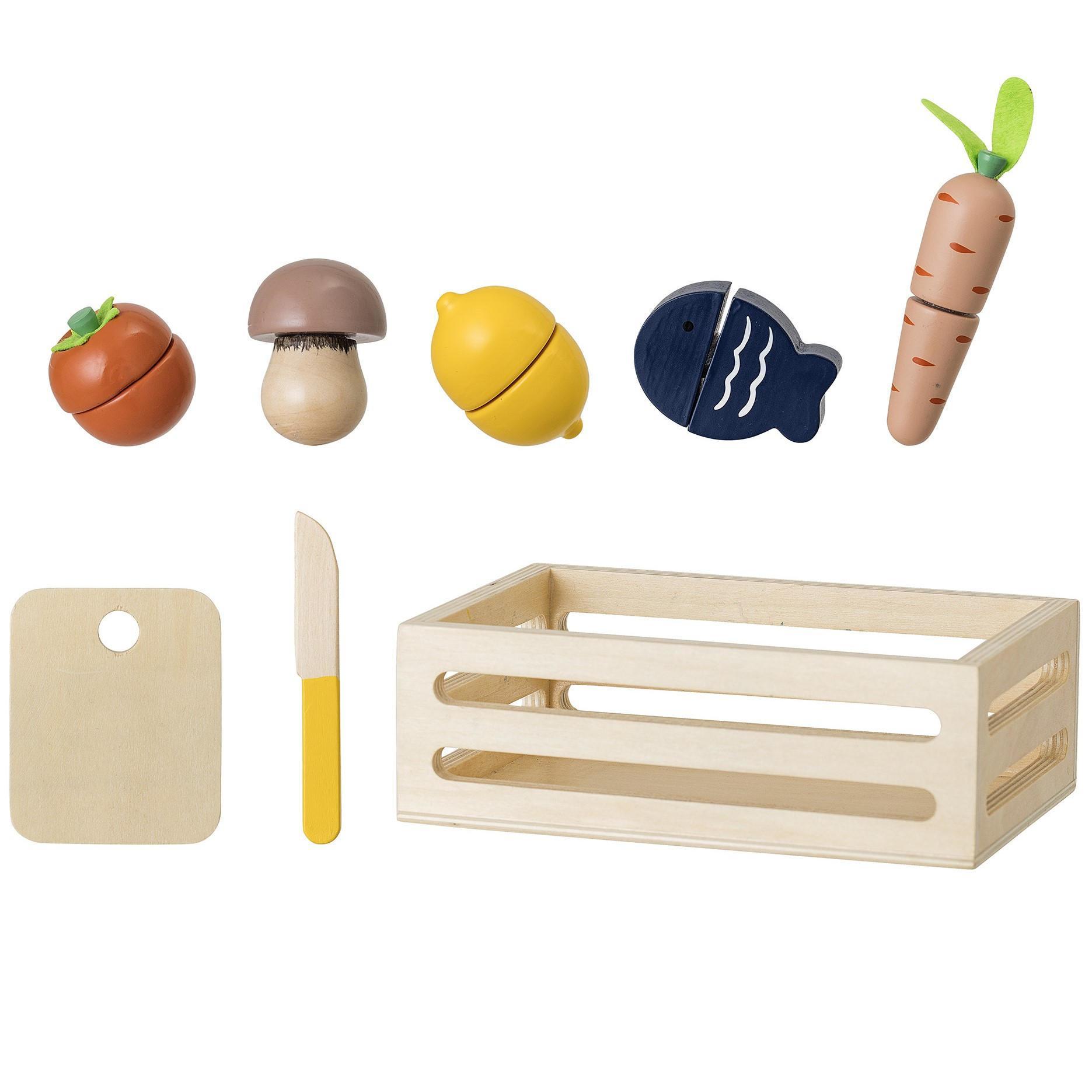 Bloomingville Dřevěné hračky Farm Market, multi barva, dřevo