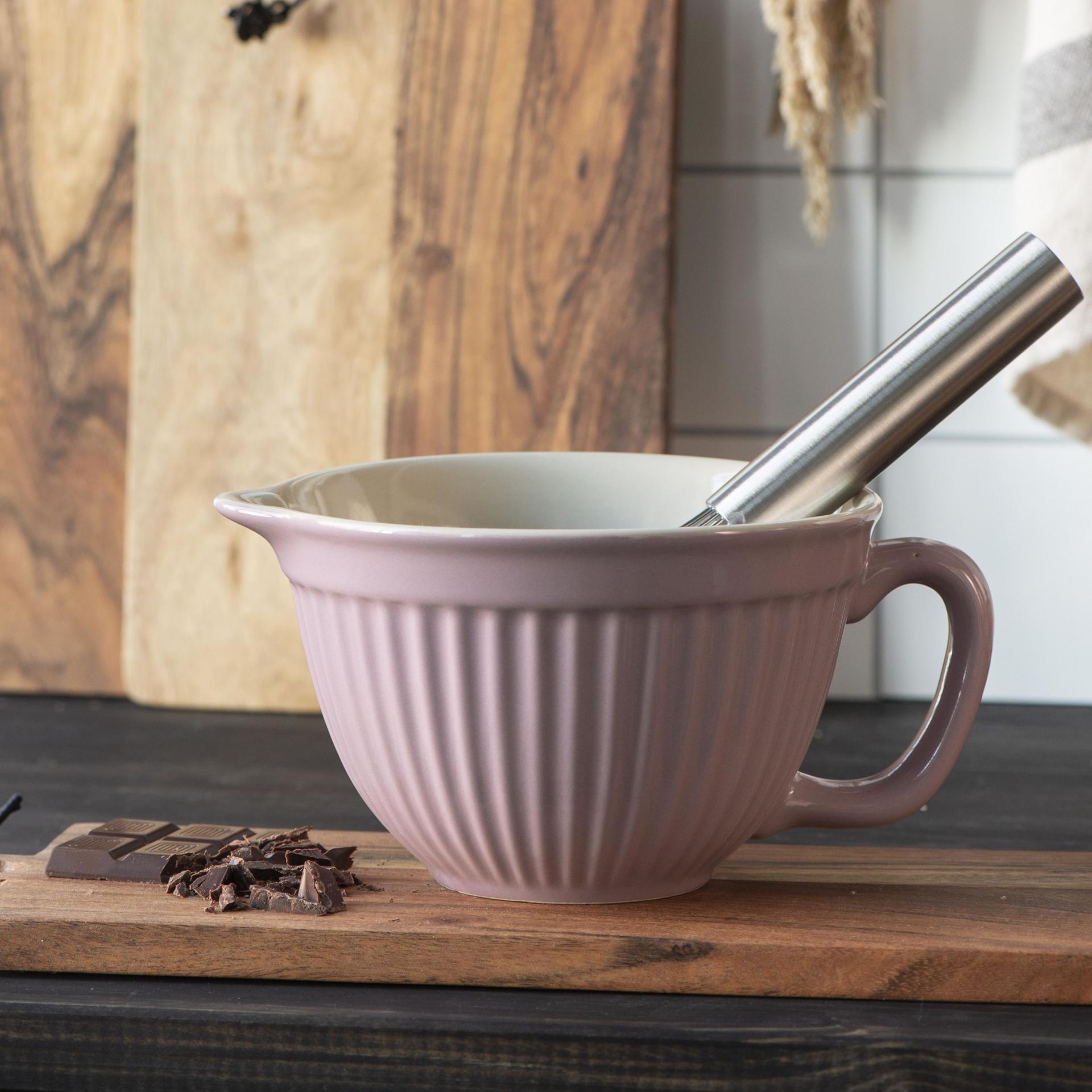IB LAURSEN Mísa na těsto Mynte Lavender, růžová barva, fialová barva, keramika