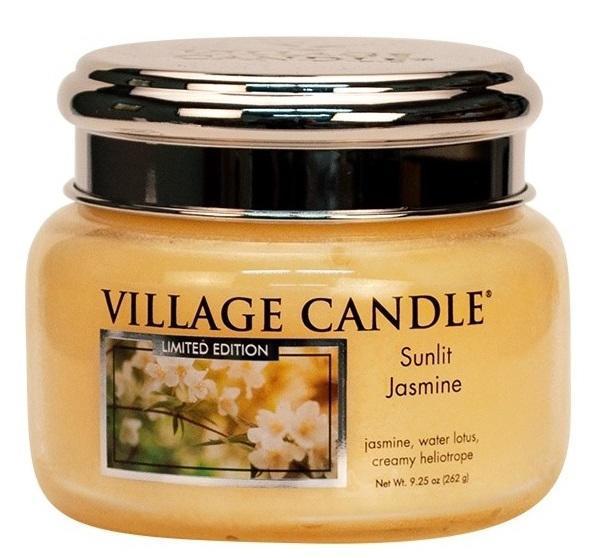 VILLAGE CANDLE Svíčka Village Candle - Sunlit Jasmine 262g, žlutá barva, sklo, kov