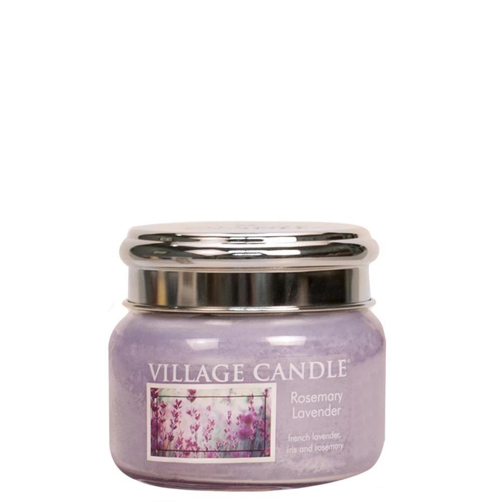 VILLAGE CANDLE Svíčka Village Candle - Rosemary Lavender 262g, fialová barva, sklo
