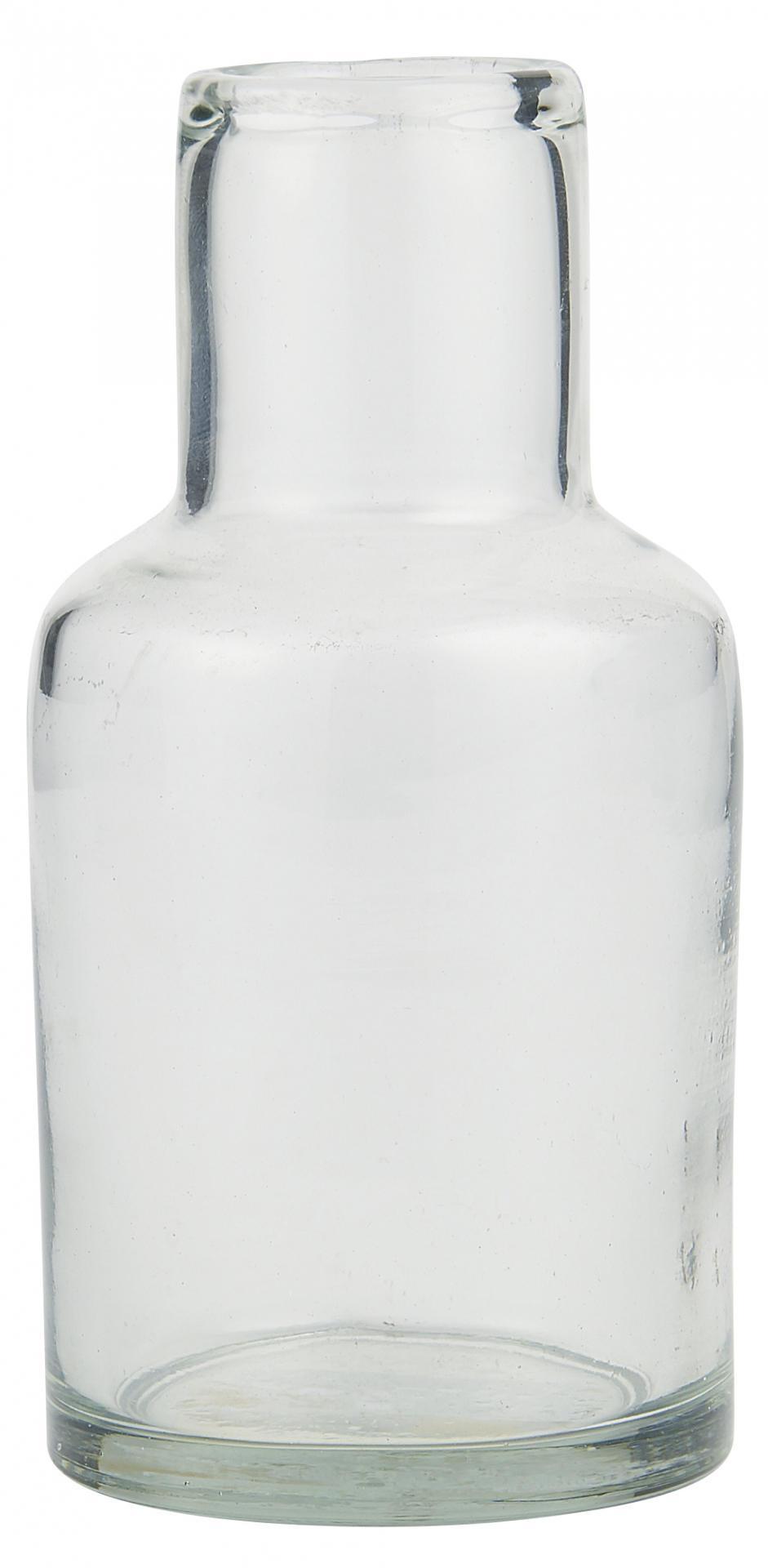IB LAURSEN Skleněná váza Long Neck Handblown, čirá barva, sklo
