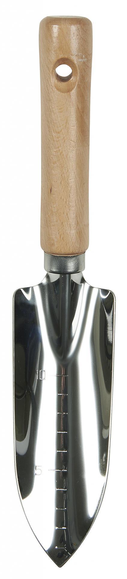 IB LAURSEN Mini zahradní lopatka - úzká, přírodní barva, dřevo, kov