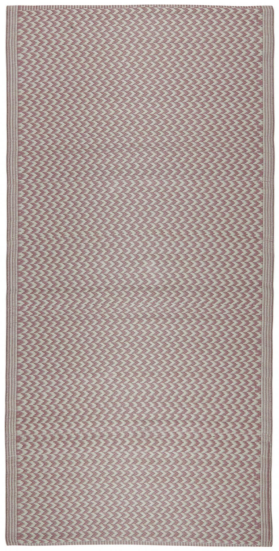 IB LAURSEN Plastový koberec Recycled Pink 90x180 cm, růžová barva, bílá barva, plast