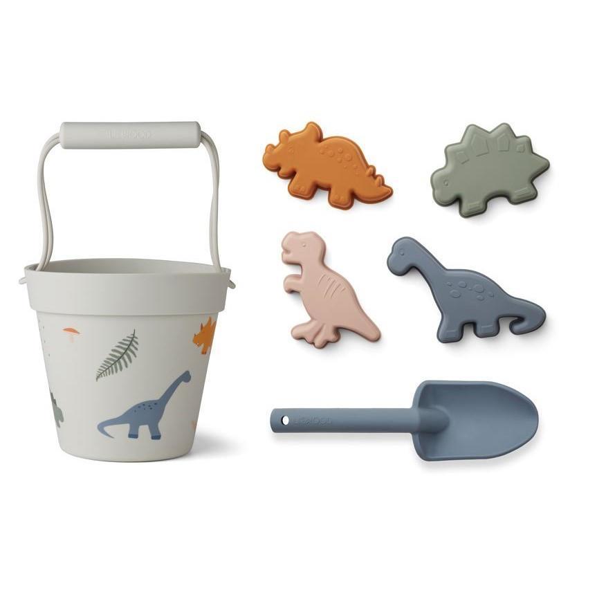 LIEWOOD Hračky na písek Dino Mix, šedá barva, multi barva