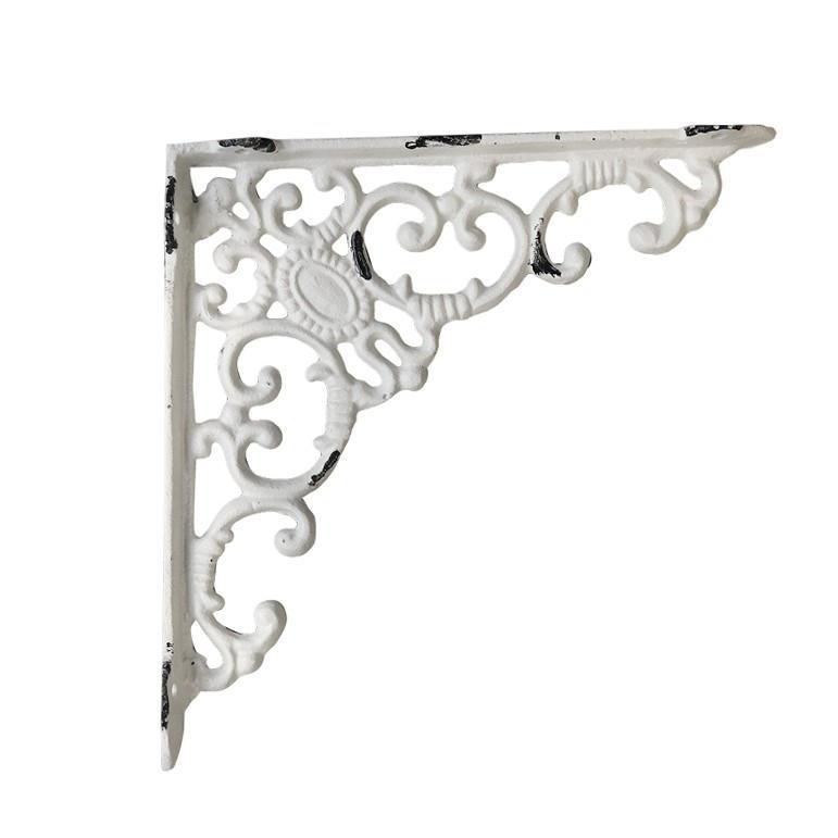 Chic Antique Kovová konzole Antique White 20,5 cm, bílá barva, kov
