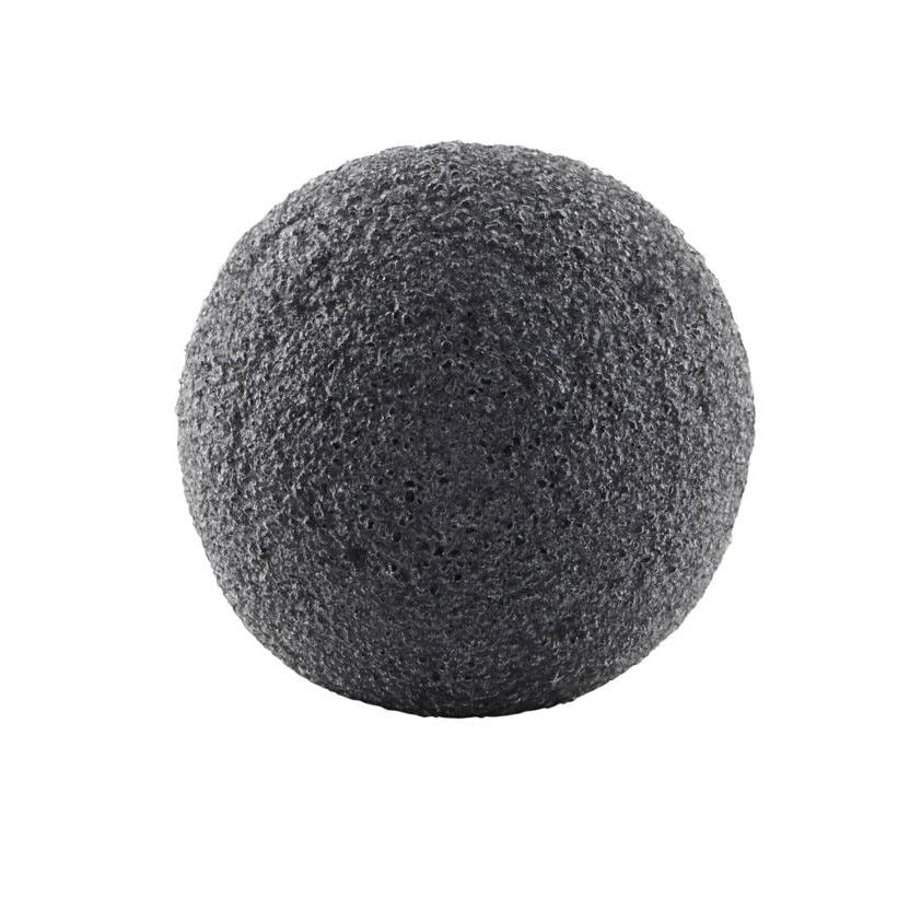 meraki Meraki konjaková houbička s aktivním uhlím, šedá barva, černá barva, pryskyřice