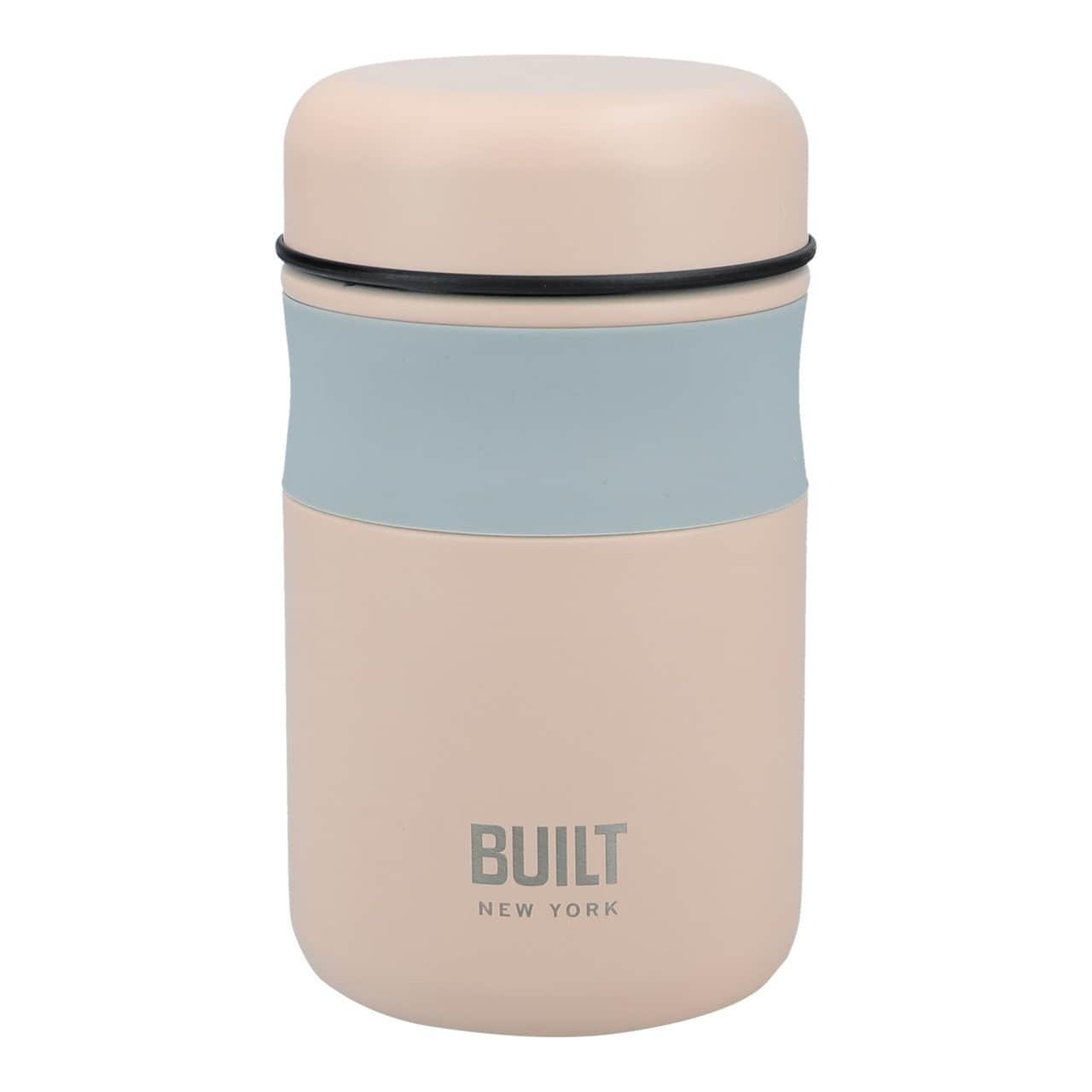 Kitchen Craft Termo box na potraviny Mindful 490 ml, růžová barva, šedá barva, kov, plast