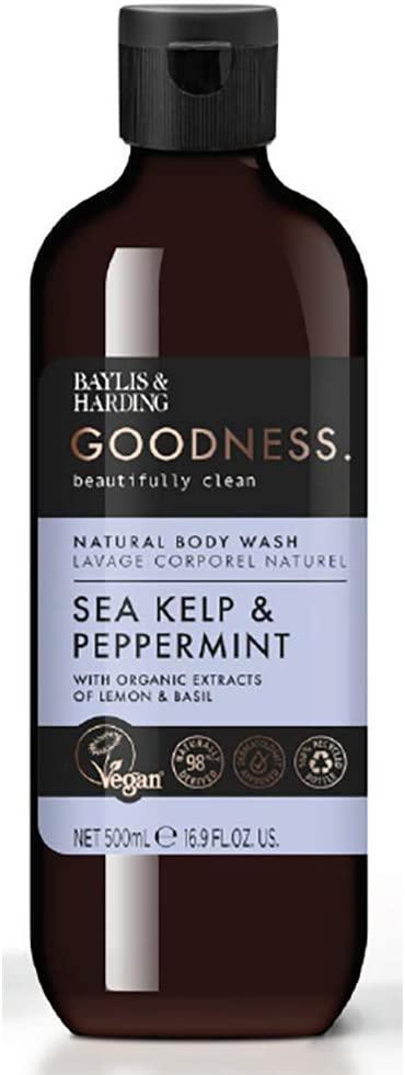 Baylis & Harding Sprchový gel Sea kelp & Peppermint 500ml, modrá barva, plast