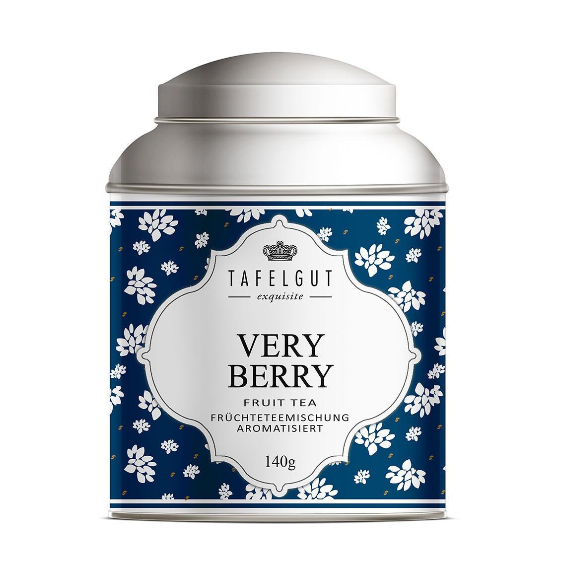 TAFELGUT Ovocný čaj - Very Berry 140 g, modrá barva, kov