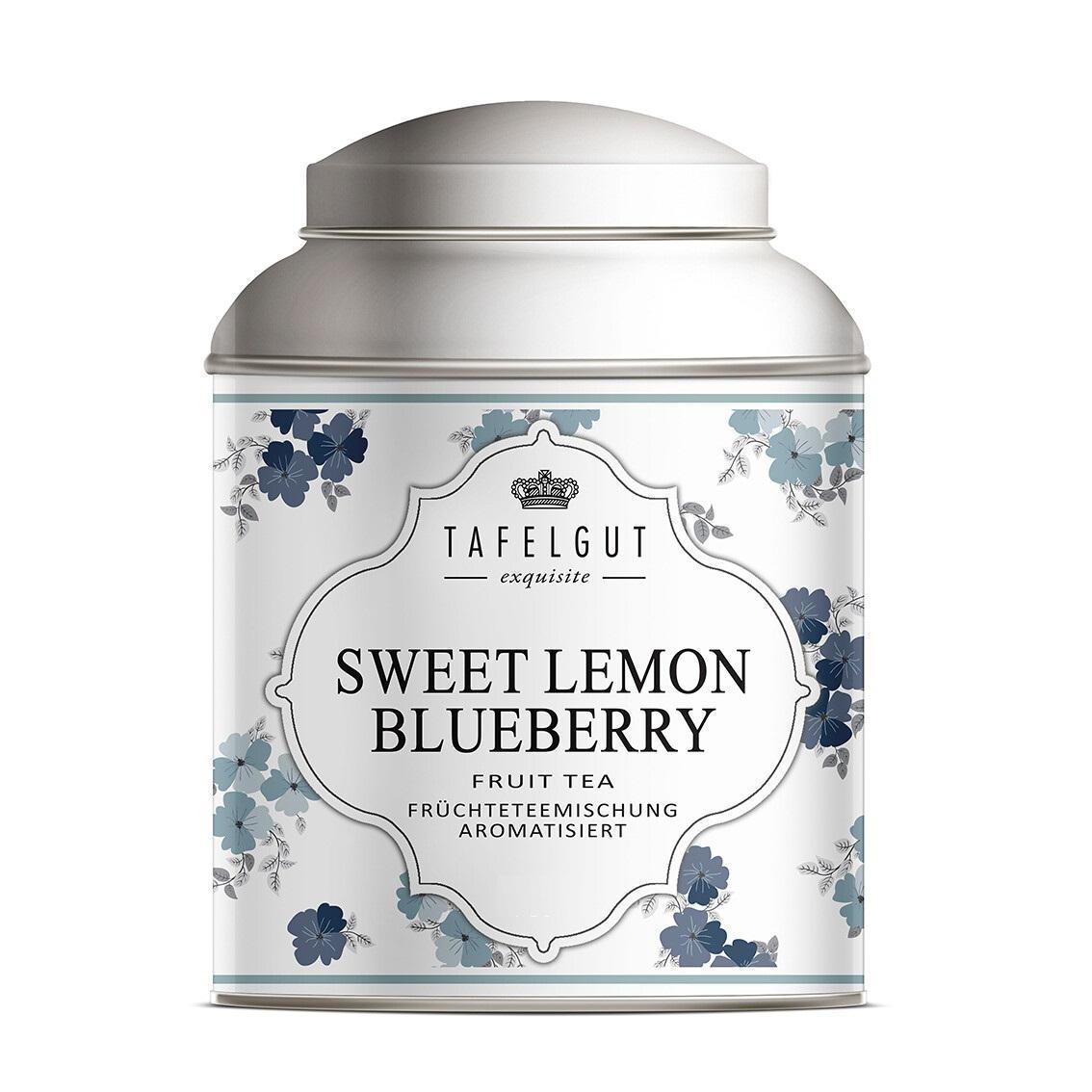 TAFELGUT Ovocný čaj Sweet Lemon Blueberry - 40g, modrá barva, kov