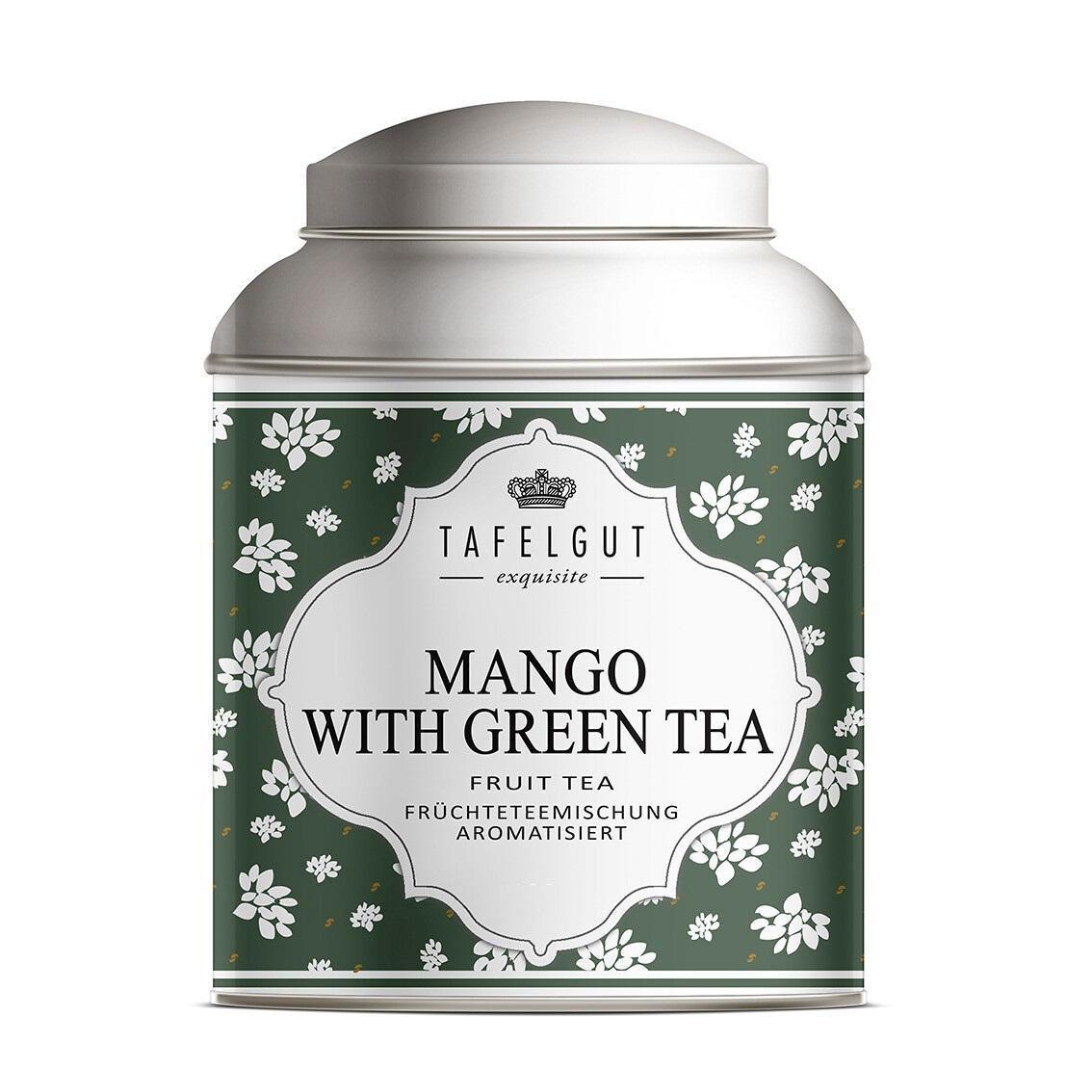 TAFELGUT Ovocný čaj Mango Green Tea - 30g, zelená barva, kov