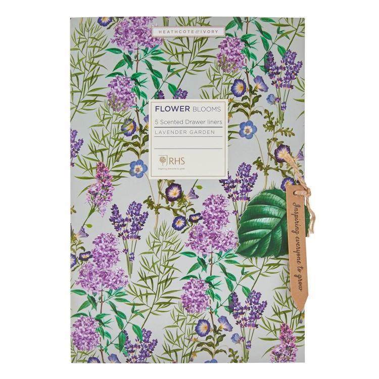 HEATHCOTE & IVORY Vonné listy do skříně Lavender Garden - 5 ks, růžová barva, papír