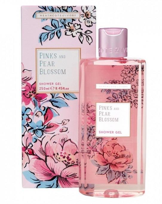 HEATHCOTE & IVORY Sprchový gel Pinks & Pear Blossom 250ml, růžová barva