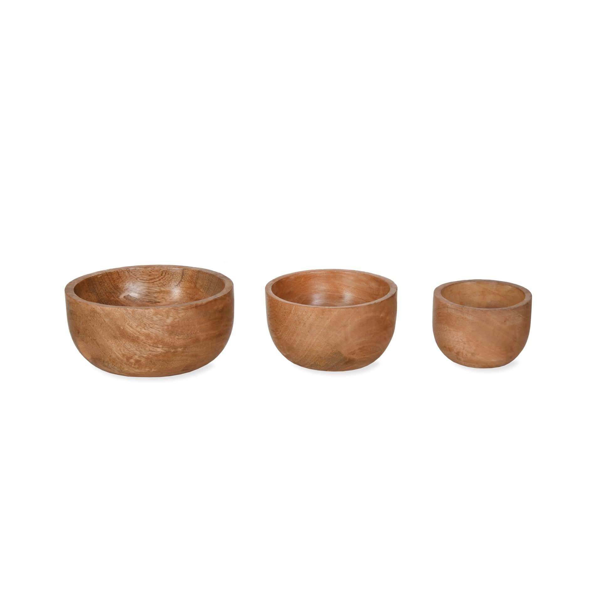 Garden Trading Miska z mangového dřeva Midford - set 3 ks, přírodní barva, dřevo
