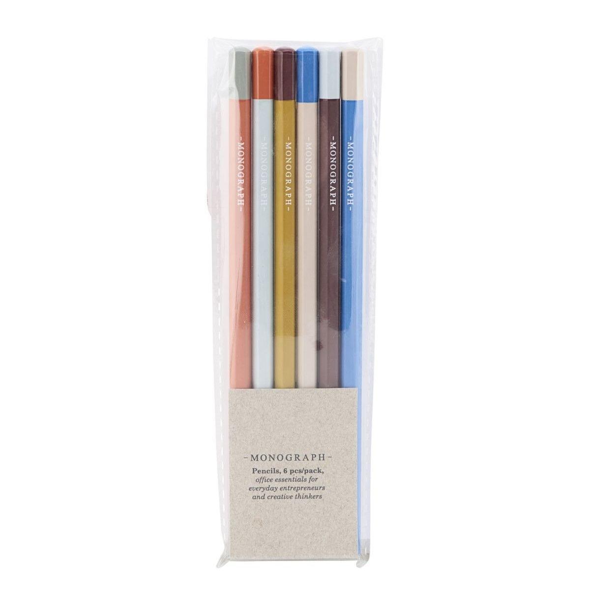 MONOGRAPH Tužky Monograph Colors - set 6 ks, multi barva, dřevo