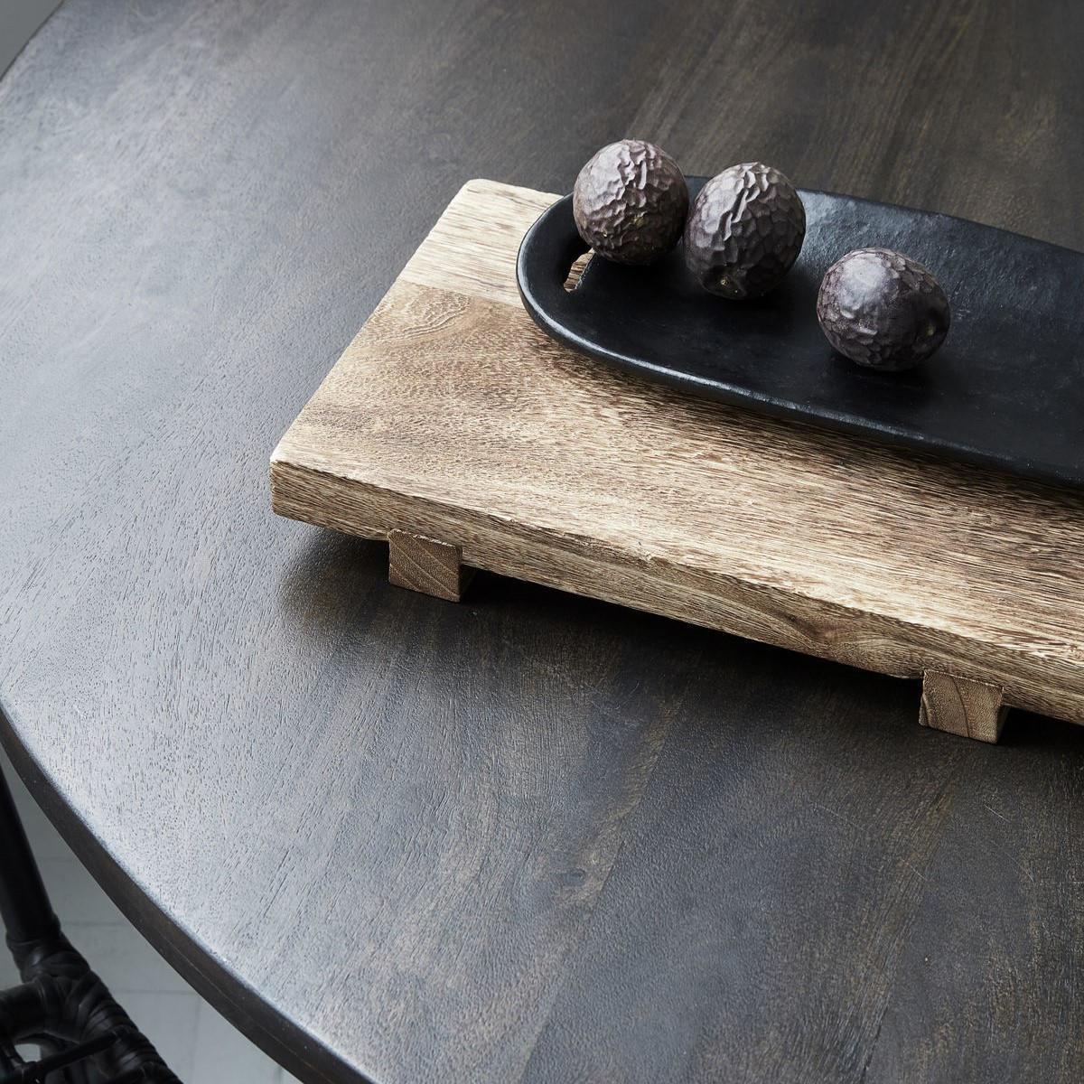House Doctor Dřevěný tác Craft 36 cm, přírodní barva, dřevo