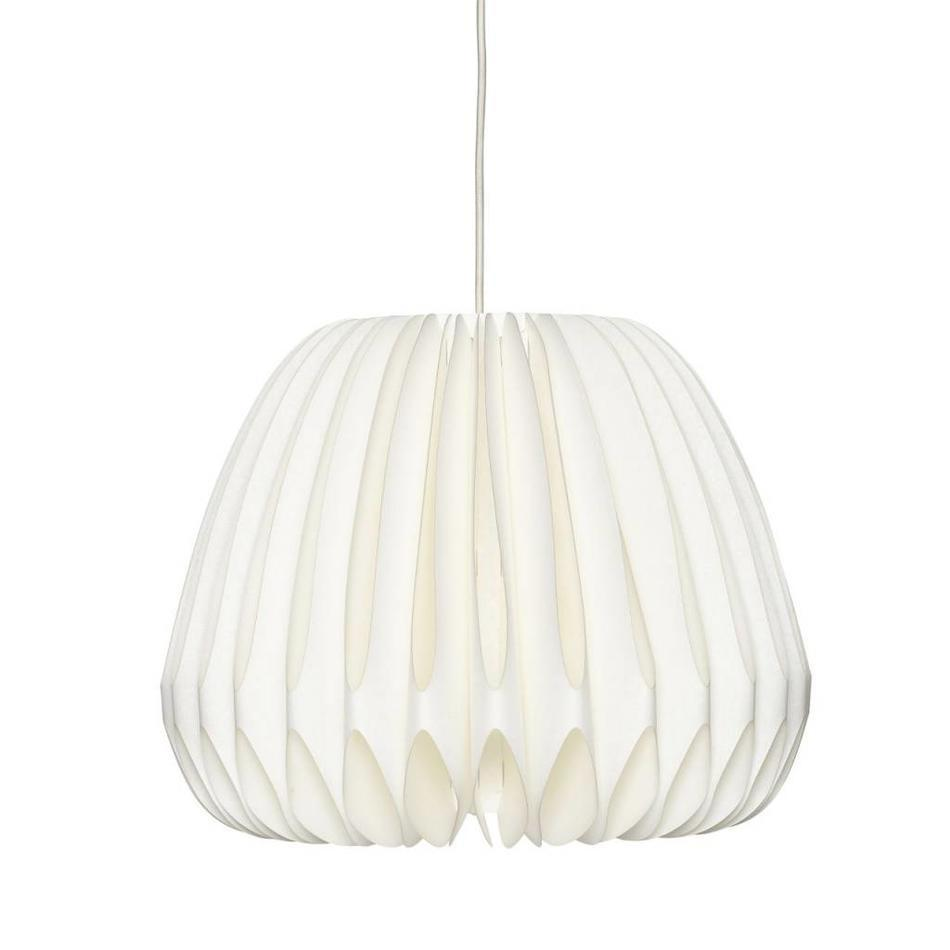 Hübsch Stropní papírová lampa Adalia, bílá barva, papír