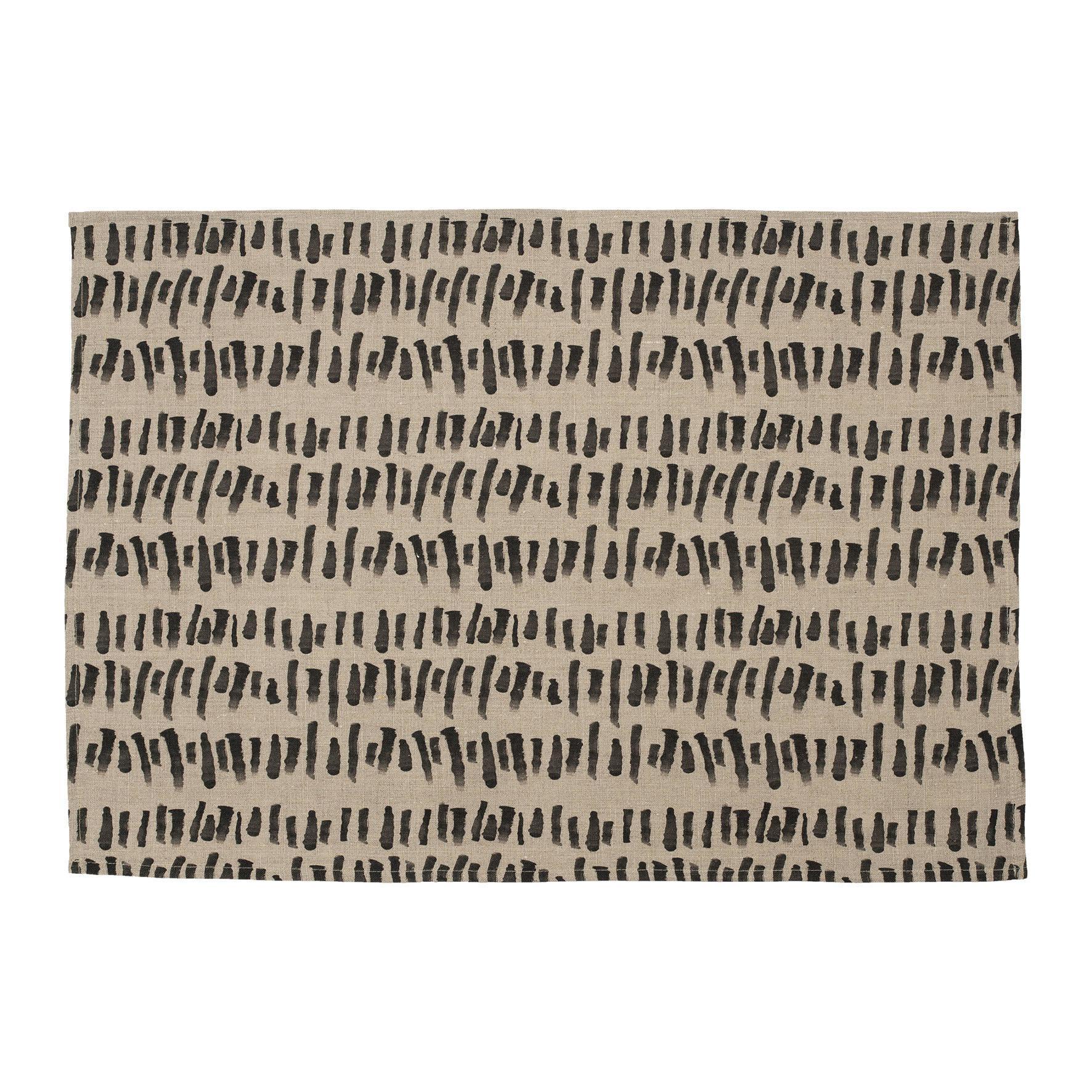 CÔTÉ TABLE Lněná utěrka Brush, béžová barva, textil