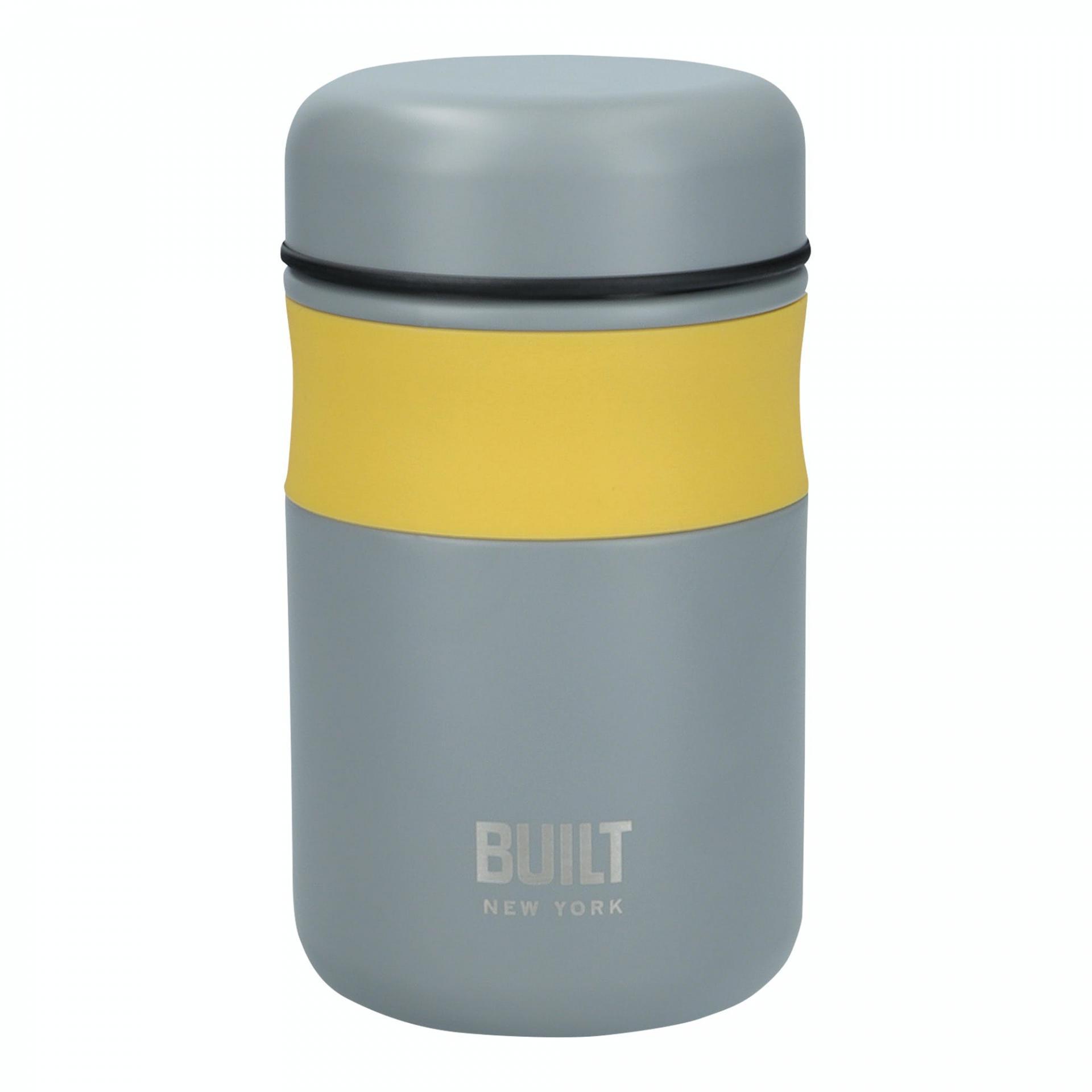 Kitchen Craft Termo box na potraviny Stylist 490 ml, žlutá barva, šedá barva, kov