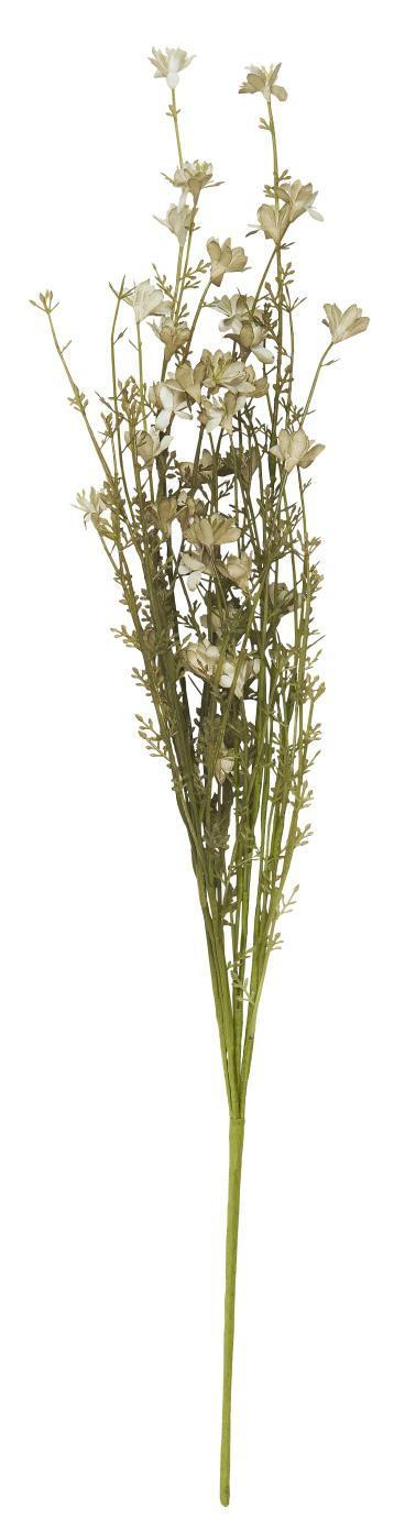 IB LAURSEN Dekorativní umělé květy White/Green Tones, zelená barva, bílá barva, plast