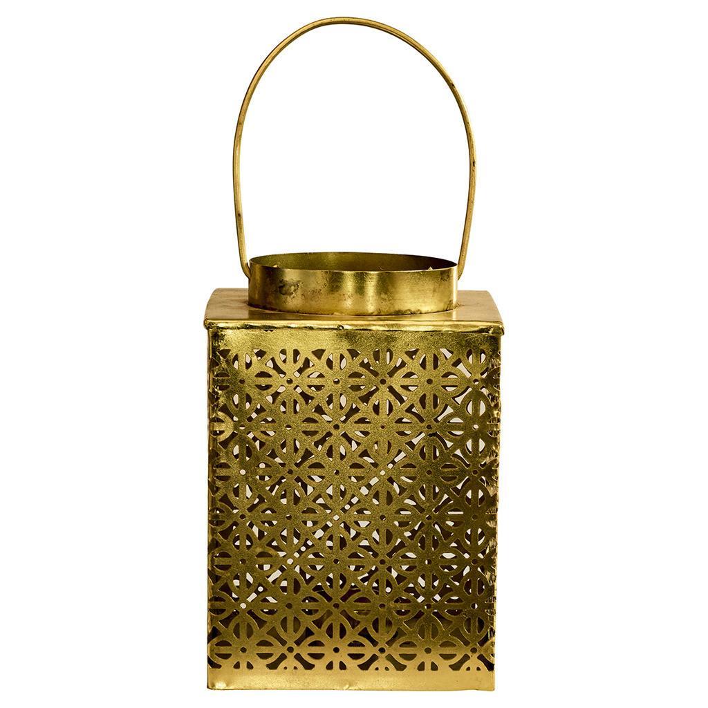 GREEN GATE Kovová lucerna Gold, zlatá barva, kov